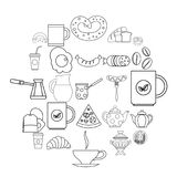 Diet icons set, outline style. Diet icons set. Outline set of 25 diet vector icons for web isolated on white background Royalty Free Stock Photo