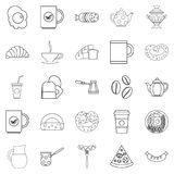 Diet icons set, outline style Stock Photo