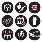 Diet icons set Royalty Free Stock Image
