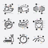 Diet infographic Royalty Free Stock Photos