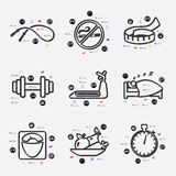 Diet infographic Stock Images