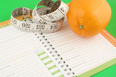 Diet journal Royalty Free Stock Photography