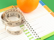 Diet journal Stock Image