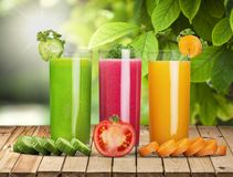 Diet juices. Detox carrot health glass cold stock photo