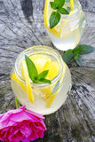Diet with lemonade royalty free stock image
