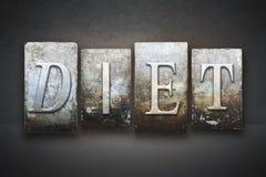 Diet Letterpress Royalty Free Stock Photo