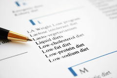 Diet list Royalty Free Stock Photo