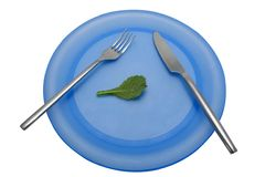 Diet lunch 3. A diet lunch of a single leaf. With clipping path stock photo