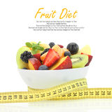 Diet meal. Fruit salad in a bowl Stock Image