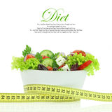 Diet meal. Vegetables salad in a bowl Stock Photography