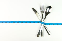 Diet measuring concept Royalty Free Stock Photos