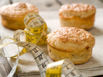 Diet meat pies Stock Photo