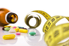 Diet with medicaments Stock Images