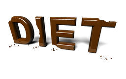 Diet not accomplished Royalty Free Stock Photography