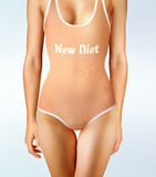 Diet oneself. Woman in underwear with perfect shape, diet oneself Stock Images