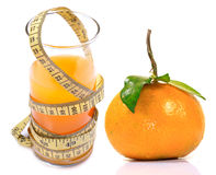Diet orange juice Royalty Free Stock Photo