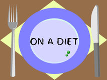 Diet. An ordinary meal of those on a diet royalty free illustration