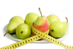 Diet with pears Stock Images