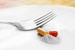 Diet pill Royalty Free Stock Images