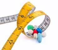 Diet pills stock photography