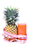 Diet pineapple juice Royalty Free Stock Photos