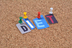 Diet Pinned to board Royalty Free Stock Photography