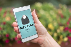 Diet plan concept on a smartphone Stock Image