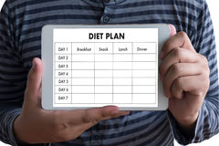 DIET PLAN healthy eating, dieting, slimming and weigh loss conce. Pt Royalty Free Stock Photography
