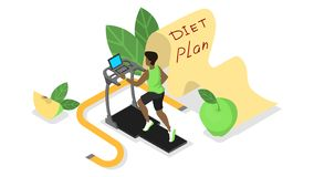 Diet plan. Nutriotion control and healthy food vector illustration