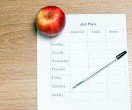 Diet Plan. royalty free stock image