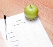 Diet Plan Stock Images