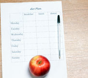Diet Plan. Stock Images