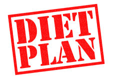 DIET PLAN. Red Rubber Stamp over a white background royalty free illustration