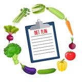Diet plan schedule. Royalty Free Stock Photo