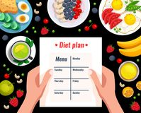 Diet Plan Vector Illustration Stock Photo