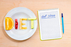 Diet plan Royalty Free Stock Photography