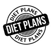 Diet Plans rubber stamp. Grunge design with dust scratches. Effects can be easily removed for a clean, crisp look. Color is easily changed Royalty Free Stock Image