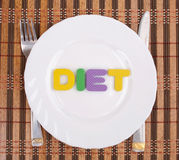 Diet on the plate Royalty Free Stock Photography