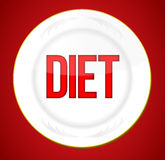 Diet plate Royalty Free Stock Image