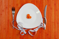 Diet plate of vegetables Royalty Free Stock Photos