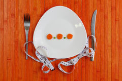 Diet plate of vegetables Stock Image