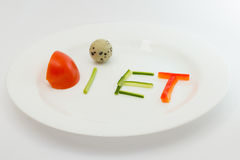Diet plate Stock Image
