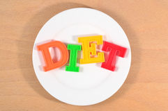 Diet on the plate Stock Photos