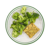 Diet Pollock and broccoli meal. Royalty Free Stock Images