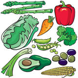 Diet products icon set Stock Photography