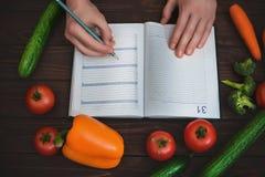 Diet plan. The concept of diet. Dietary Menu stock image