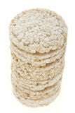 Diet rice cakes pile isolated on white Stock Photography