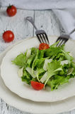 Diet salad. Salad on a plate with two forks Royalty Free Stock Photography