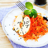 Diet salad with carrots Stock Photography