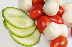 Diet salad with cherry tomatoes Royalty Free Stock Images